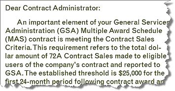 GSA Contract Cancellation