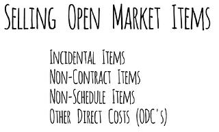 Open Market Item
