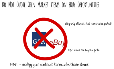 open market items ebuy gsa