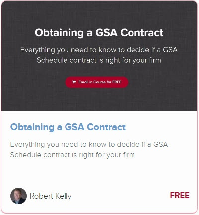 Obtaining GSA Contract free online training